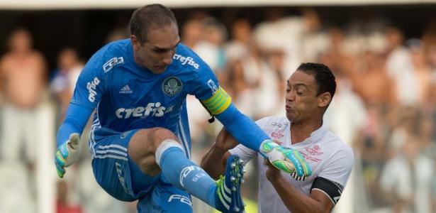 Ricardo Oliveira não marcou gols contra o Palmeiras na temporada 2016