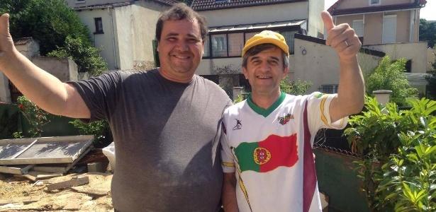 Fernando (à esquerda) e Joaquim. Mão de obra portuguesa domina a França