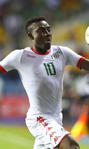 Alain Traore, da seleção de Burkina Faso, na Copa Africana de Nações 2017
