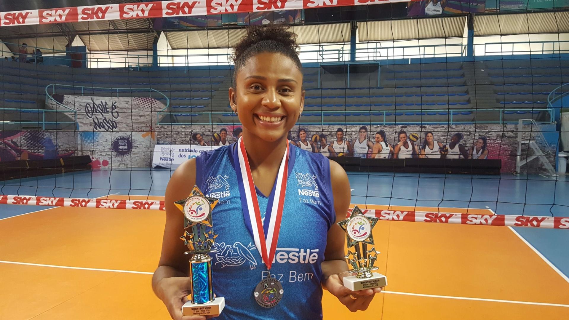 Natália Martins conquistou a prata no Pan de surdas