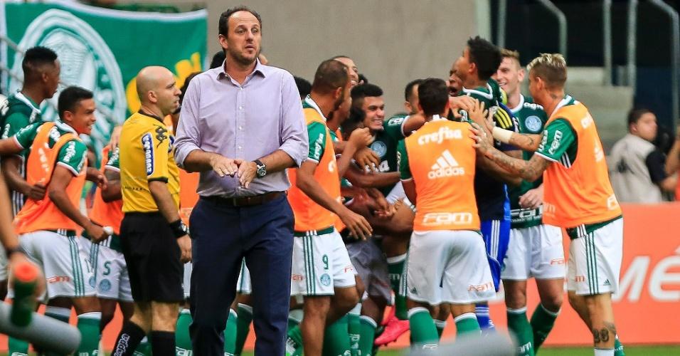 Rogério Ceni pede calma após golaço do de Dudu para o Palmeiras