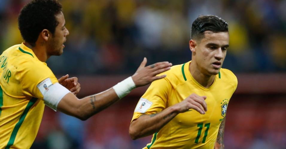 Philippe Coutinho marca o primeiro gol do Brasil contra o Paraguai