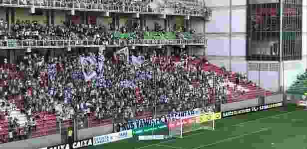 Torcida do Atlético-MG cobrou raça do time, antes mesmo de a bola rolar - Victor Martins/UOL Esporte - Victor Martins/UOL Esporte