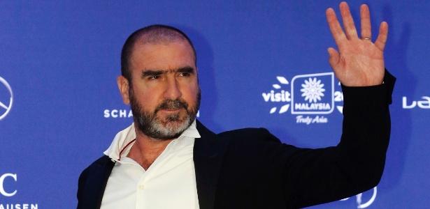 Eric Cantona em sua chegada para o Prêmio Laureus deste ano