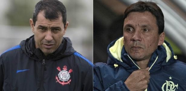 Carille e Zé Ricardo medirão forças neste domingo em Itaquera - Daniel Augusto Jr /Corinthians e Juan Mabromata/AFP