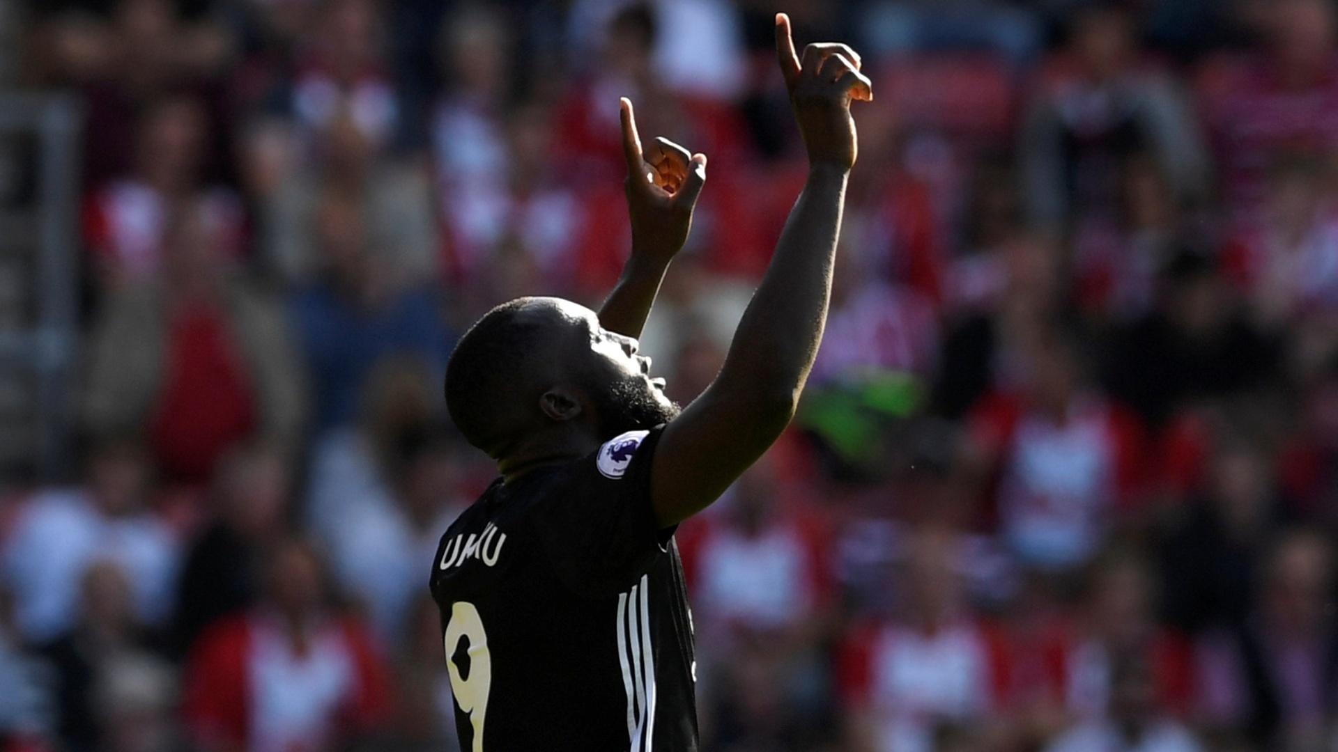 Lukaku abriu o placar para o Manchester United contra o Southampton