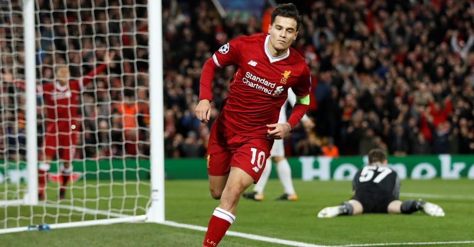 Time inglês goleou russos por 7 a 0   Liverpool massacra Spartak com show de Coutinho e volta às oitavas da Liga