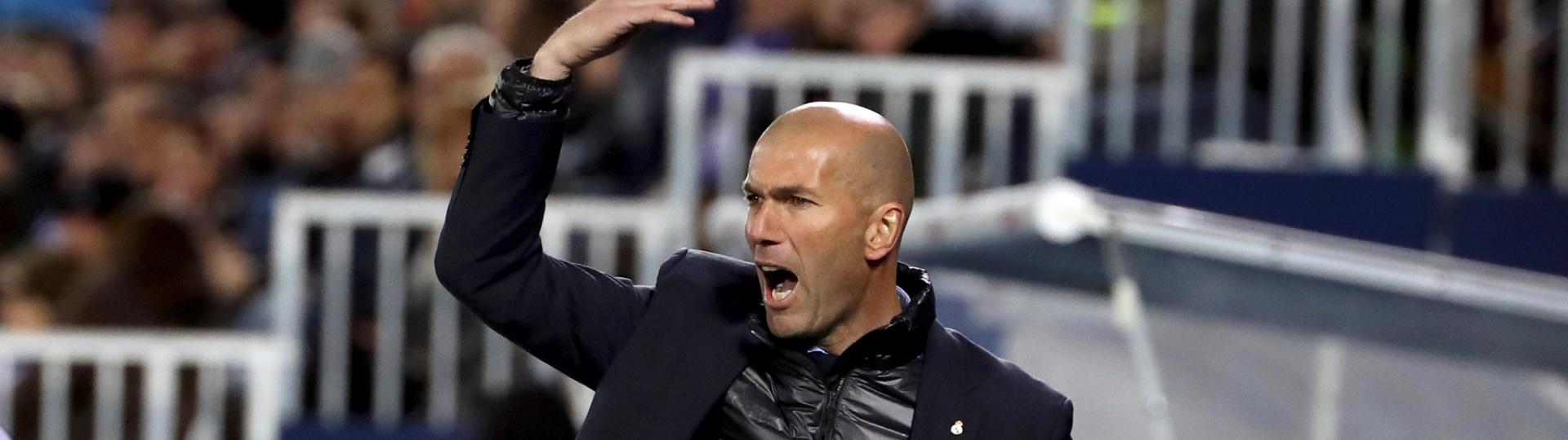 Zidane orienta o Real Madrid contra o Leganés