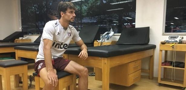 Rodrigo Caio trabalhou no Reffis e ainda não tem previsão para ser liberado para voltar a jogar