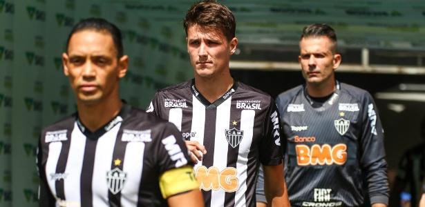 Atlético-MG já utiliza a marca do BMG na camisa desde a primeira rodada do estadual - Bruno Cantini/Atlético