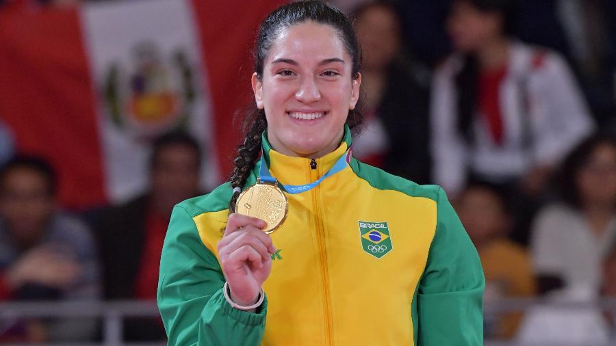 Mayra Aguiar, ouro nos Jogos Pan-Americanos de Lima - LUIS ACOSTA/AFP