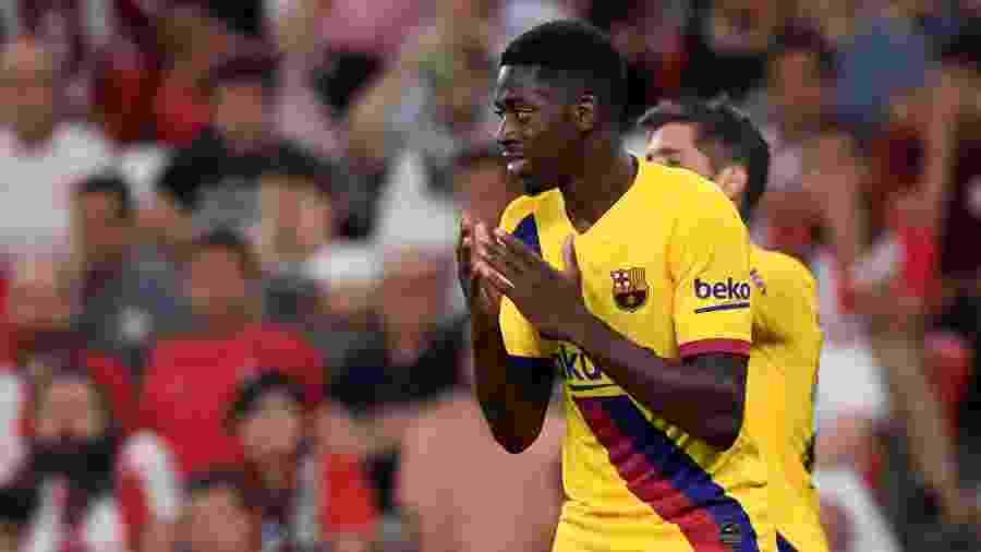 Dembélé se atrasou para treinamento do Barcelona - REUTERS/Vincent West