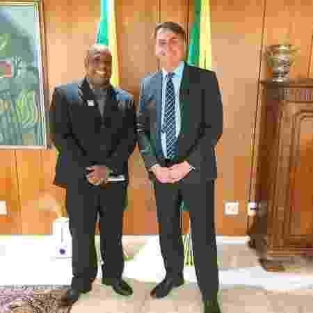 Marcello Magalhães, novo secretário de Esportes do Ministério da Cidadania, ao lado do presidente Jair Bolsonaro - Reprodução/Facebook
