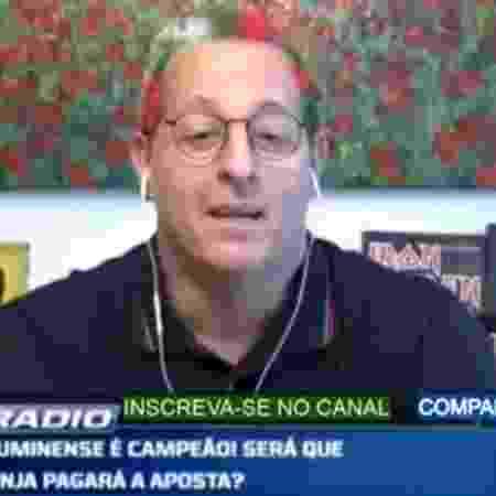 Benja pinta cabelo após Flu conquistar a Taça Rio - Reprodução/Fox Sports