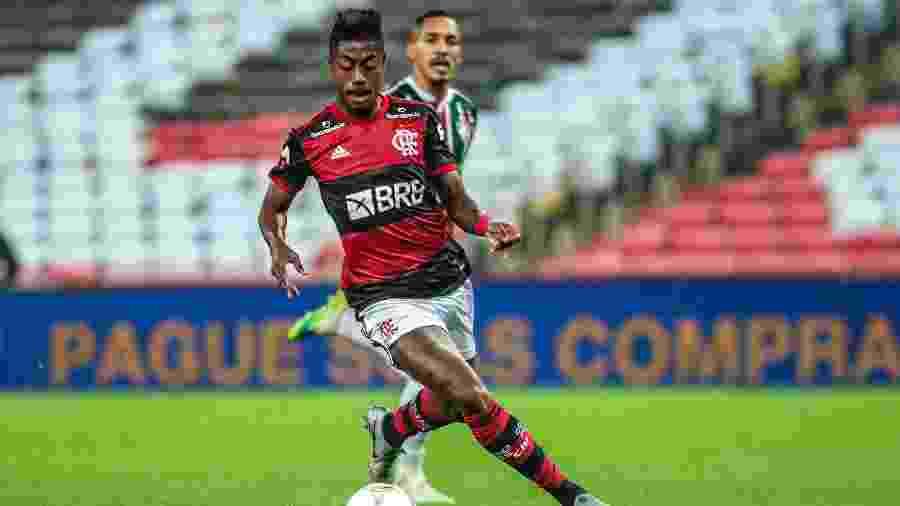 Atacante Bruno Henrique, do Flamengo, na decisão do Carioca 2020 contra o Fluminense - Marcelo Cortes/Flamengo