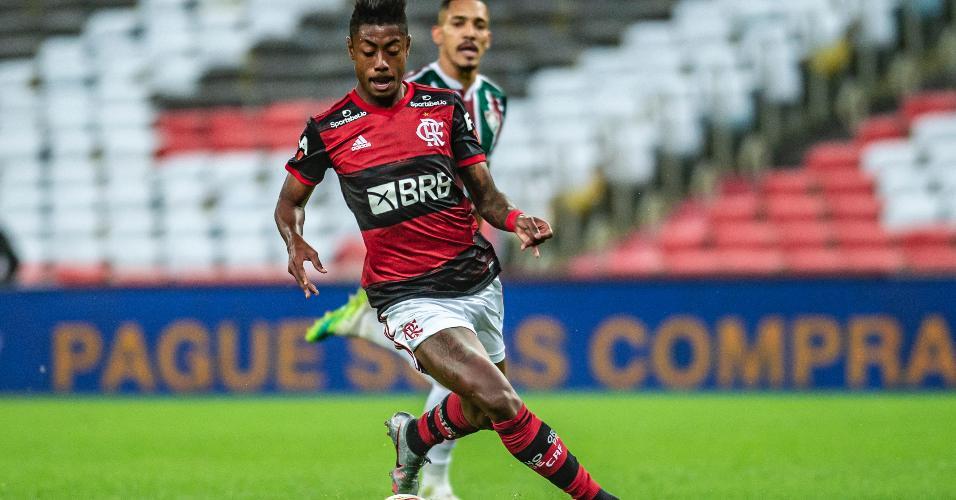 Atacante Bruno Henrique, do Flamengo, na decisão do Carioca 2020 contra o Fluminense