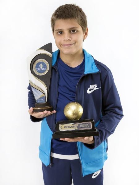 Enzo Peterson, jogador do sub-10 do São Paulo - Divulgação