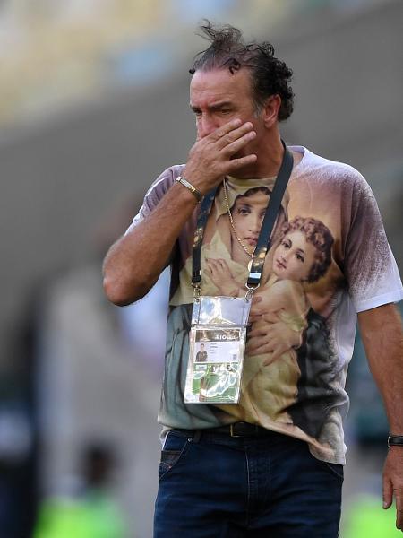 Cuca comanda o Santos em final contra o Palmeiras pela Libertadores 2020 - Mauro Pimentel/Getty Images