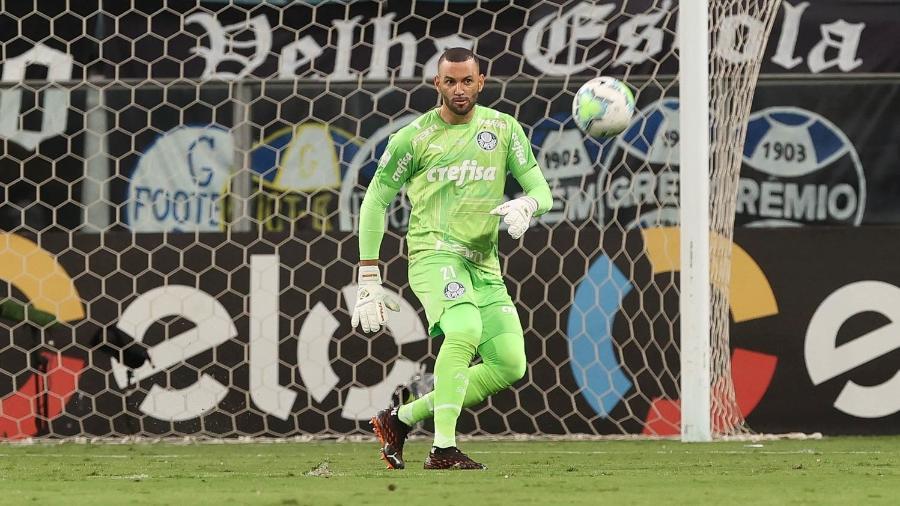 Weverton, goleiro do Palmeiras, na final da Copa do Brasil 2020 - César Grecco/Palmeiras