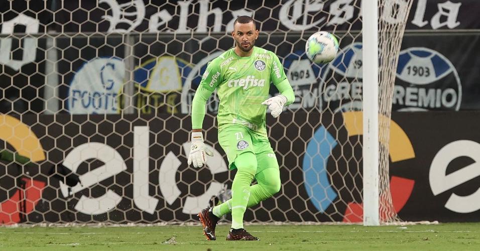 Weverton, goleiro do Palmeiras, na final da Copa do Brasil 2020