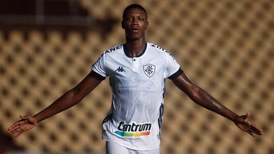 Matheus Babi comemora gol do Botafogo contra o Moto Club, pela Copa do Brasil - Divulgação / Botafogo F.R.