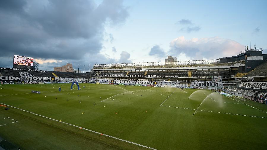 Vista geral do estádio Vila Belmiro para partida entre Santos e Ituano - Duda Bairros/AGIF