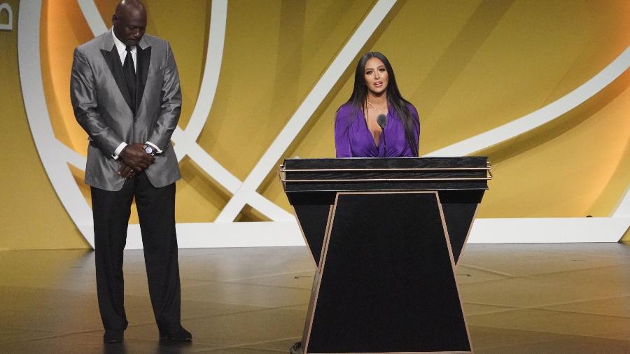 Vanessa Bryant durante a cerimônia do Hall da Fama - David Butler II-USA TODAY Sports