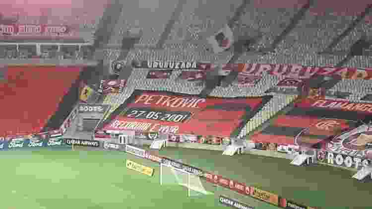 Bandeira Flamengo Gol do Pet - Alexandre Araújo / UOL Esporte - Alexandre Araújo / UOL Esporte