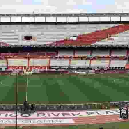 No sábado (14), River Plate e Atlético Tucumán se negaram a disputar uma partida da Copa da Surperliga Argentina no Monumental de Nuñez  - Pedro Ivo Almeida/UOL