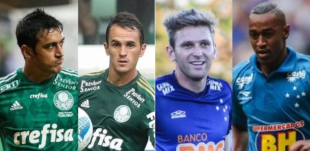 Palmeiras e Cruzeiro protagonizaram troca-troca no mercado da bola