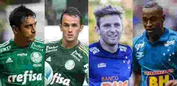 Palmeiras e Cruzeiro protagonizaram troca-troca no mercado da bola - Arte UOL