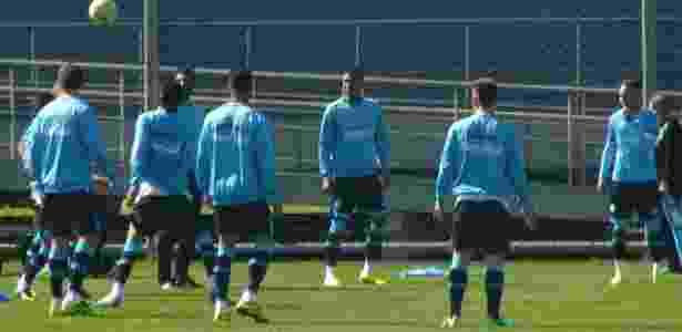 Apenas o aquecimento de treinamento do Grêmio foi aberto para imprensa - Marinho Saldanha/UOL - Marinho Saldanha/UOL