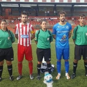 Marta Galego antes de a bola rolar na Espanha