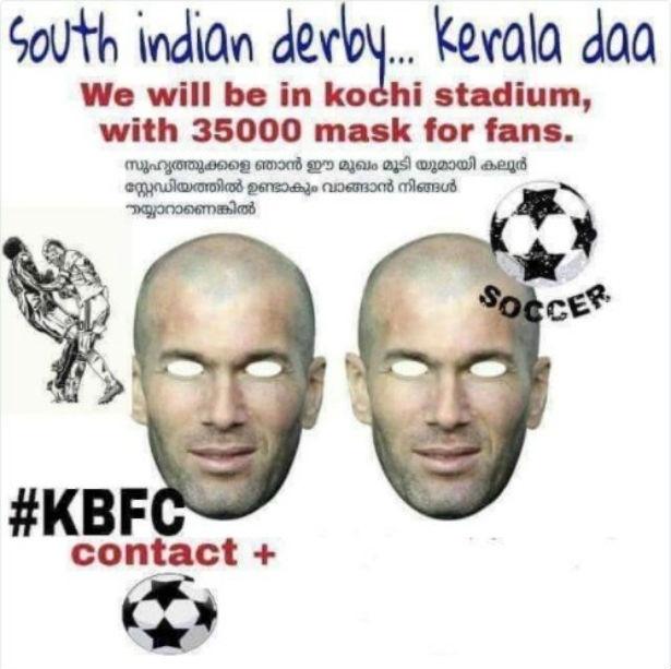 Torcida indiana planeja usar máscaras de Zidane para provocar Materazzi