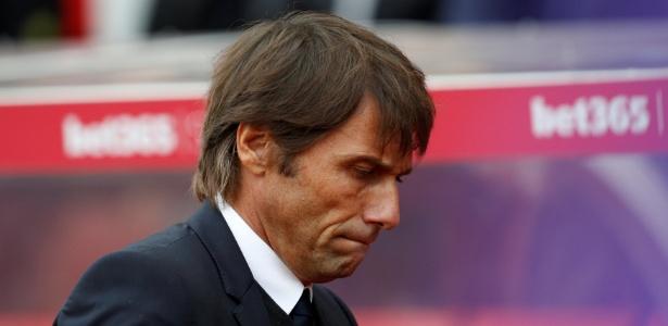Conte não está nada satisfeito no Chelsea