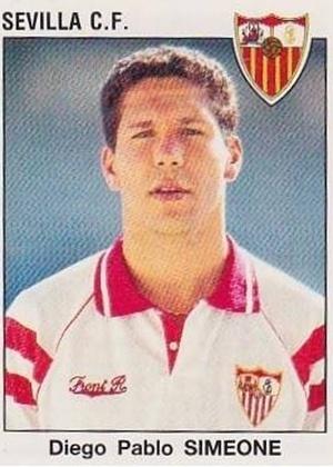 DIEGO SIMEONE, técnico do Atlético de Madri, jogou no Sevilla entre 1992 e 1994