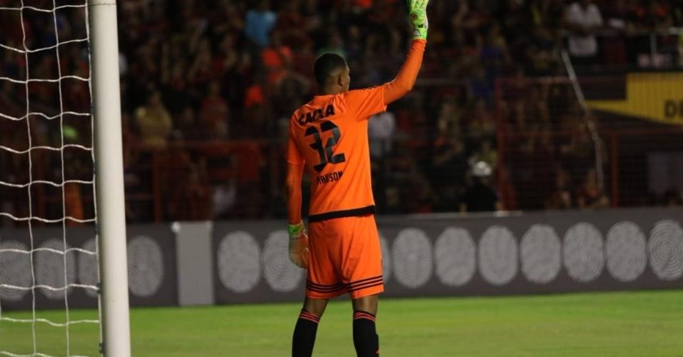 Maílson substitui Magrão no gol do Sport no jogo contra o Grêmio pelo Campeonato Brasileiro 2018