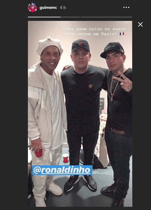Ronaldinho e Mc Guimê em Paris