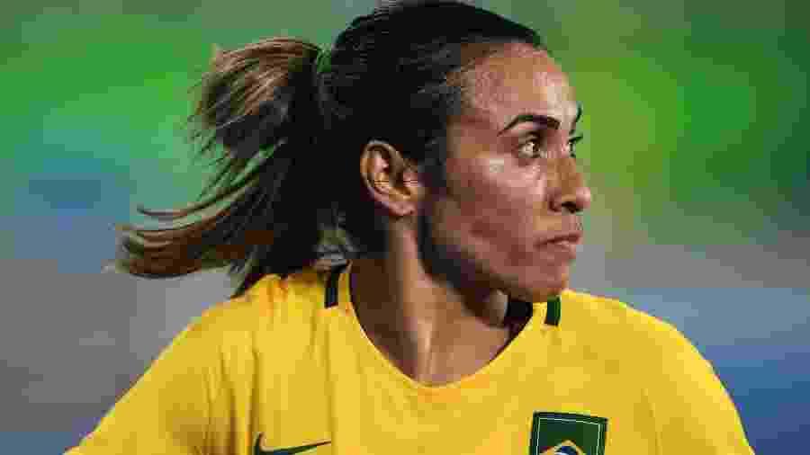 Marta em ação pela seleção brasileira - Stuart Franklin - FIFA/FIFA via Getty Images