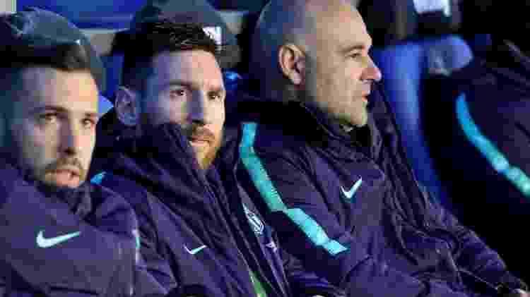 Messi no banco - Ander Gillenea/AFP - Ander Gillenea/AFP