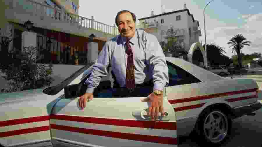 Jesús Gil y Gil foi presidente do Atlético de Madri entre 1987 e 2003; na década de 1980, sonhou alto com a Fórmula 1 - Tom Stoddart/Getty Images