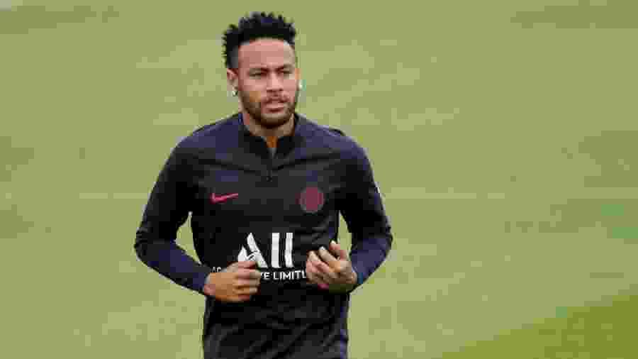 Neymar treina pelo PSG - Charles Platiau/Reuters