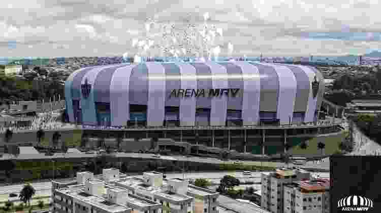 Dinheiro da venda de shopping center será usado na construção da Arena MRV - Divulgação/Atlético-MG - Divulgação/Atlético-MG
