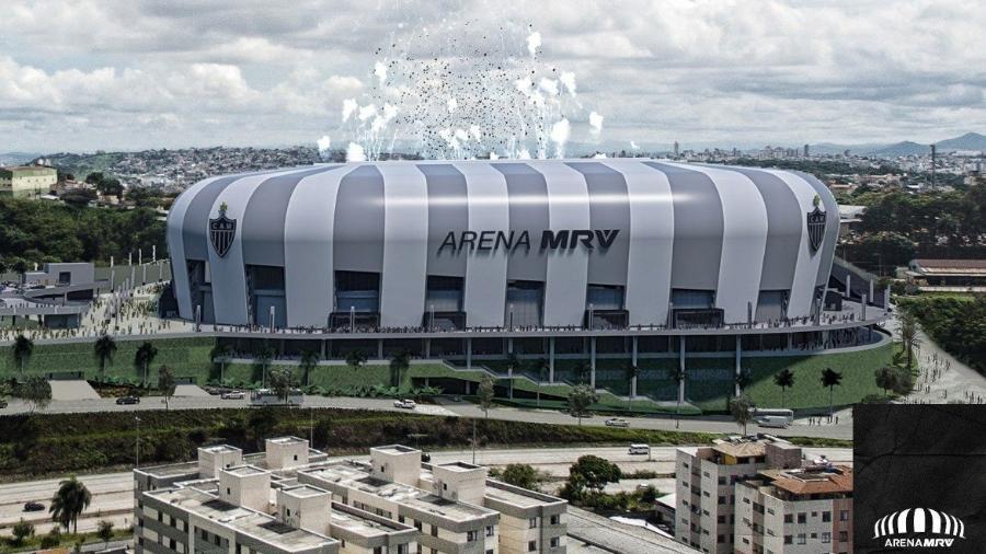 Projeção de como ficará a Arena MRV, estádio do Atlético-MG - Divulgação/Atlético-MG