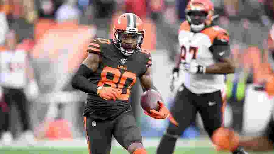 Jarvis Landry, wide receiver do Cleveland Browns - Jason Miller/Getty Images/AFP