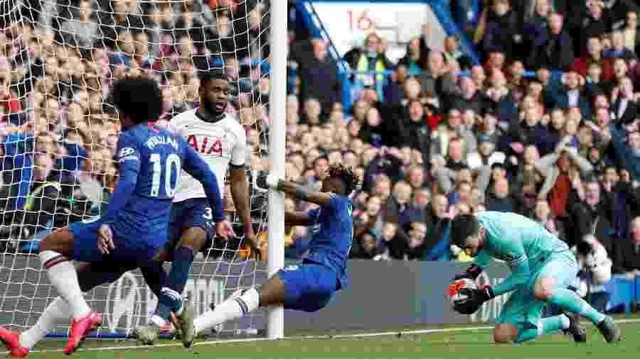 22.fev.2020 - Chelsea e Tottenham jogaram pelo Campeonato Inglês - Action Images via Reuters/Paul Childs