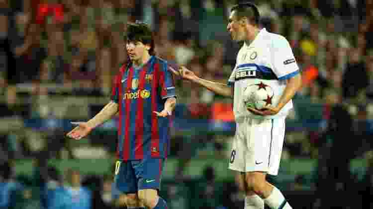 Lúcio Messi Barcelona Inter - Stephen Pond/Getty Images - Stephen Pond/Getty Images