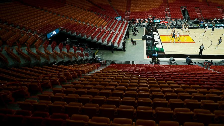 American Airlines Arena, ginásio do Miami Heat, terá cães farejadores - Michael Reaves/Getty Images