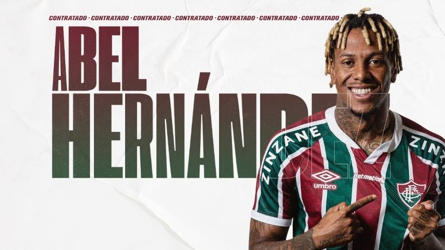 Abel Hernández foi anunciado oficialmente como reforço do Fluminense no mercado da bola - Reprodução/Fluminense FC