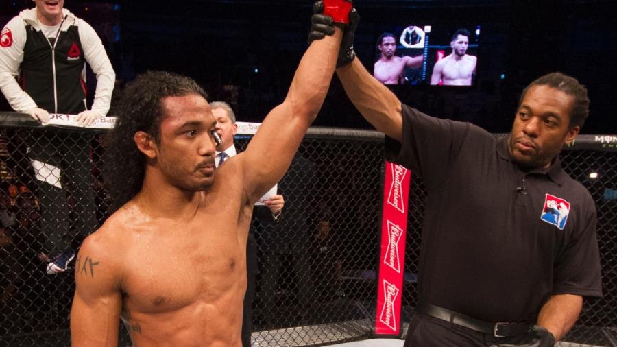 Benson Henderson não parece ter reencontrado no Bellator - Mitch Viquez/Zuffa LLC/Zuffa LLC via Getty Images